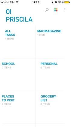 Any.Do menu iOS