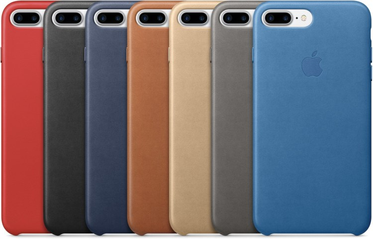 Família de cases de couro coloridas para o iPhone 7 Plus