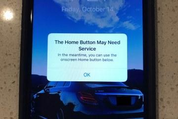 Botão de Início na tela do iPhone