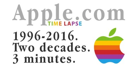 Time-lapse do site da Apple