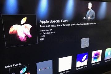 Evento especial da Apple (27/10)