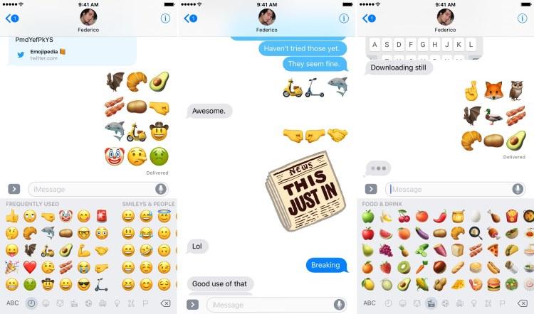 Novidades do iOS 10.2 (emojis)