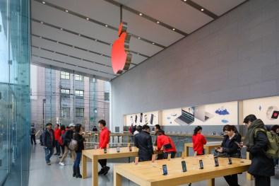 Loja da Apple modificada para o (RED)
