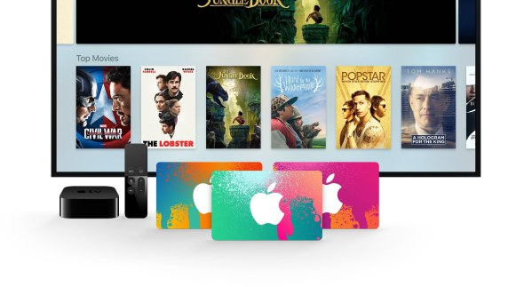 iTunes Gift Cards e Apple TV