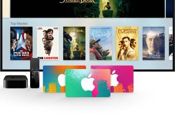 iTunes Gift Cards e Apple TV