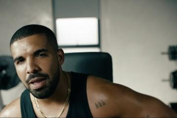 Drake em comercial do Apple Music
