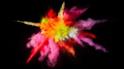 Wallpaper de explosão de cores do macOS Sierra 10.12.2