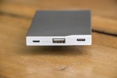 Bateria externa portátil de 5.000mAh (USB-A e USB-C), da ROCK