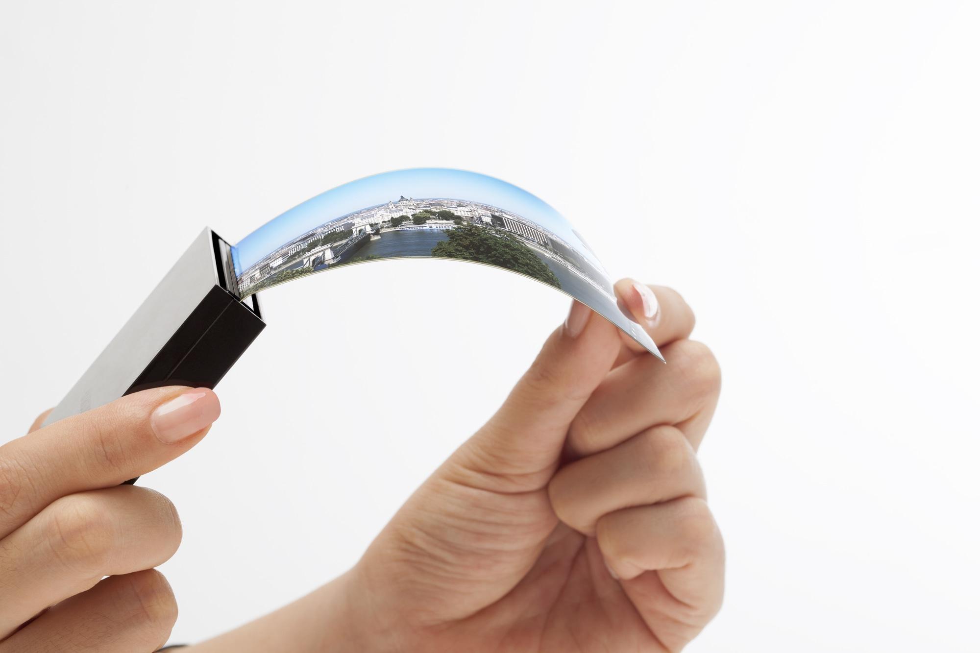 Tela OLED flexível curva da Samsung