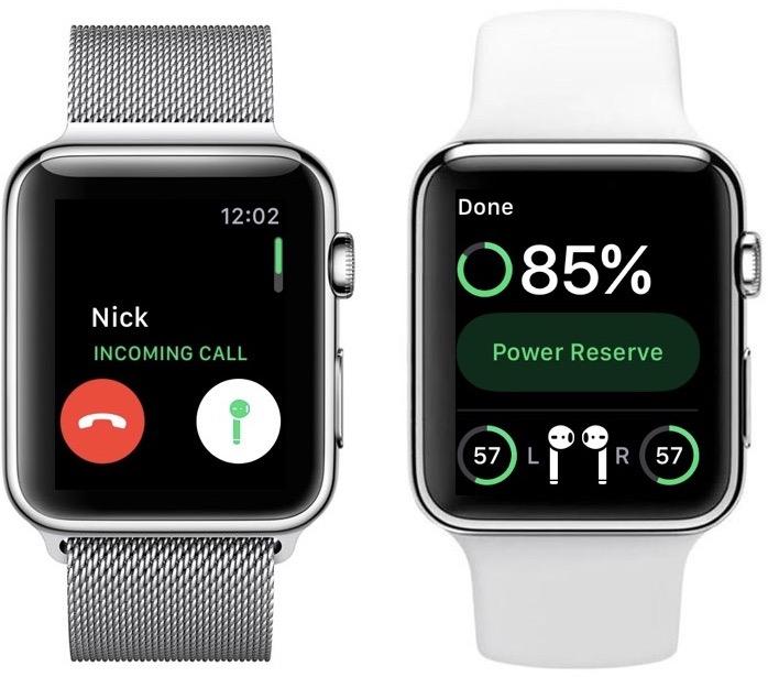 Usando os AirPods com o Apple Watch