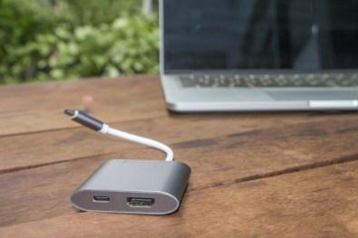Hub USB-C para HDMI, USB 3.1 e USB-C, da Geonav