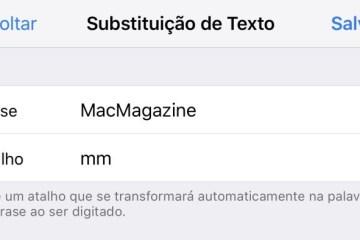 Criando um atalho de teclado no iOS