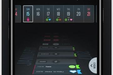 App Vantage Calendar para iOS