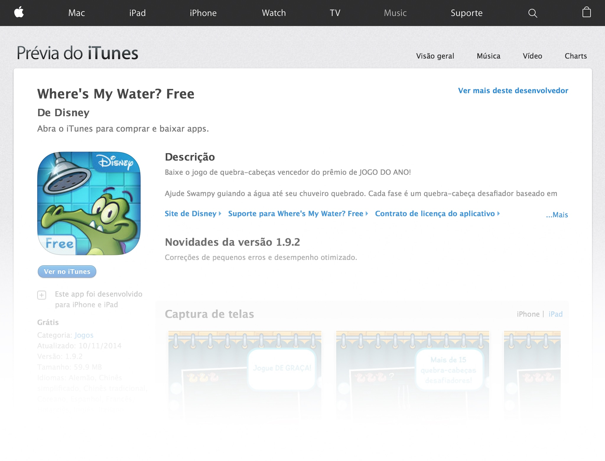 Where's My Water? Free na App Store