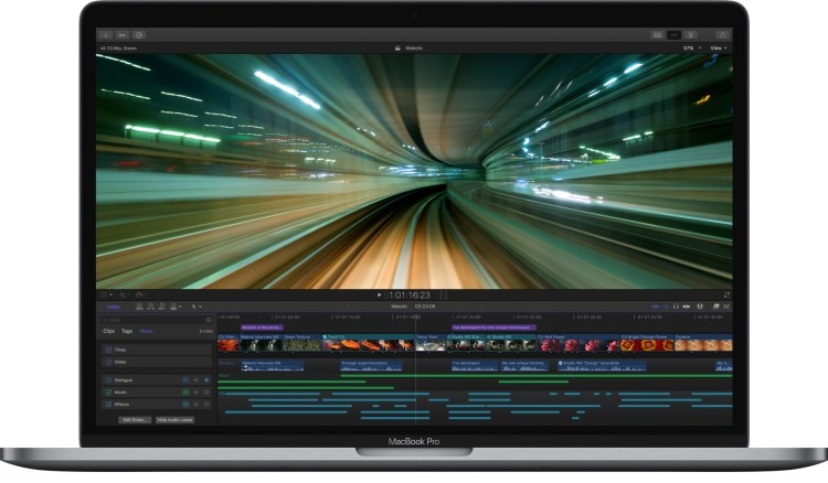 Final Cut Pro X no MacBook Pro com Touch Bar