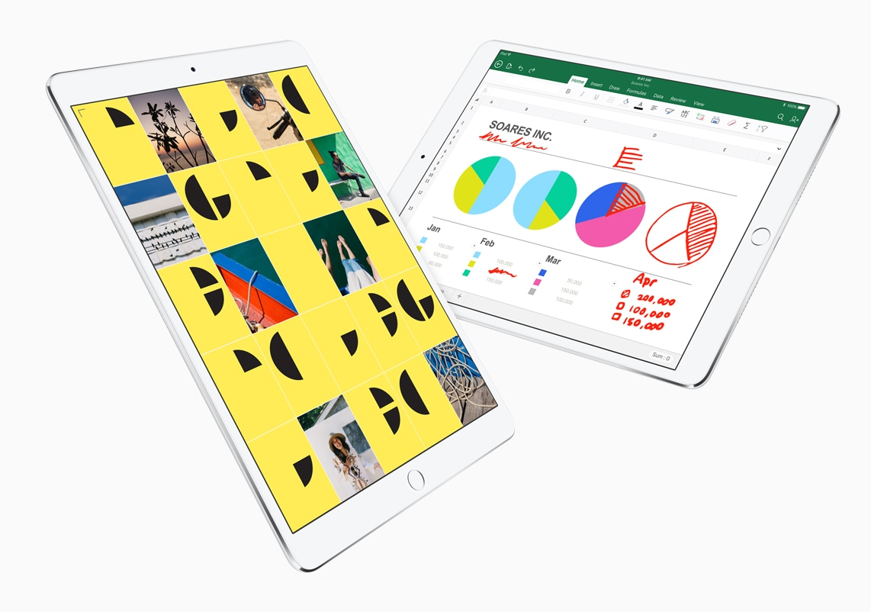 Novos iPads Pro com gráficos coloridos