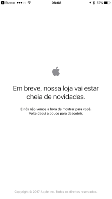 Apple Store fora do ar