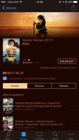 Filmes na iTunes Store com suporte à 4K, à HDR e à Dolby Vision