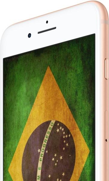 iPhone 8 com a bandeira do Brasil (by MacMagazine)