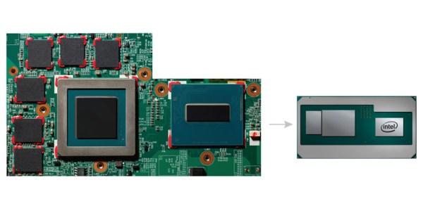 Chip Intel da oitava geração da série H, com gráficos da AMD