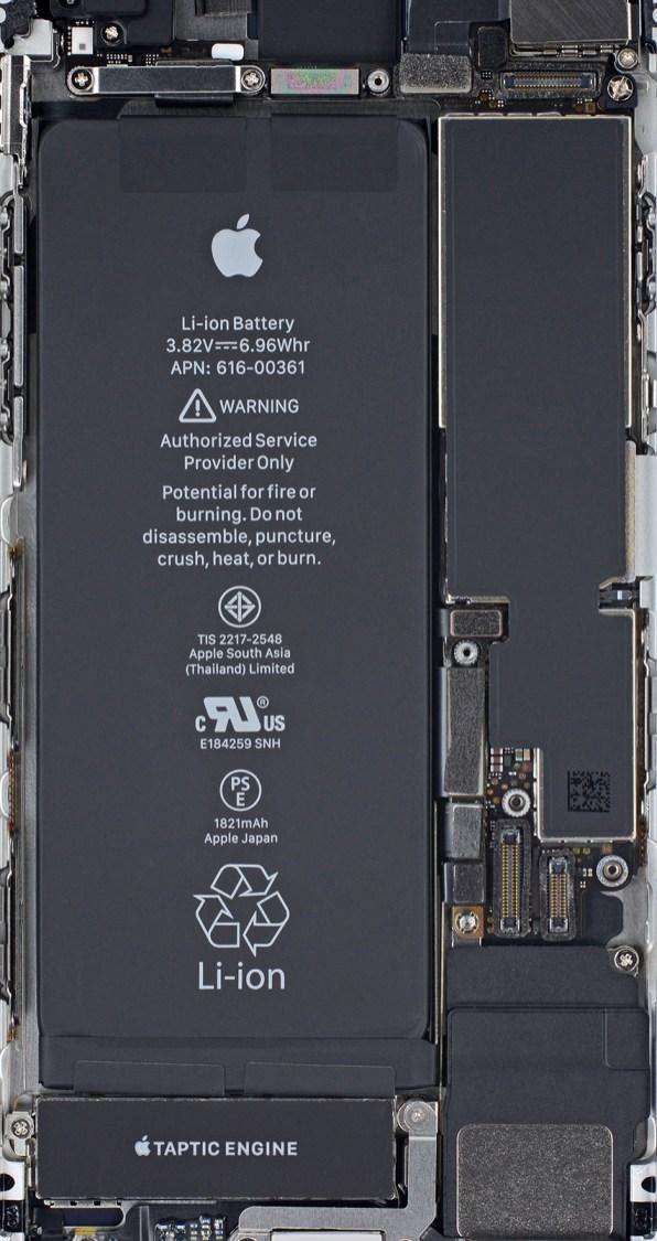 Wallpaper de componentes do iPhone 8