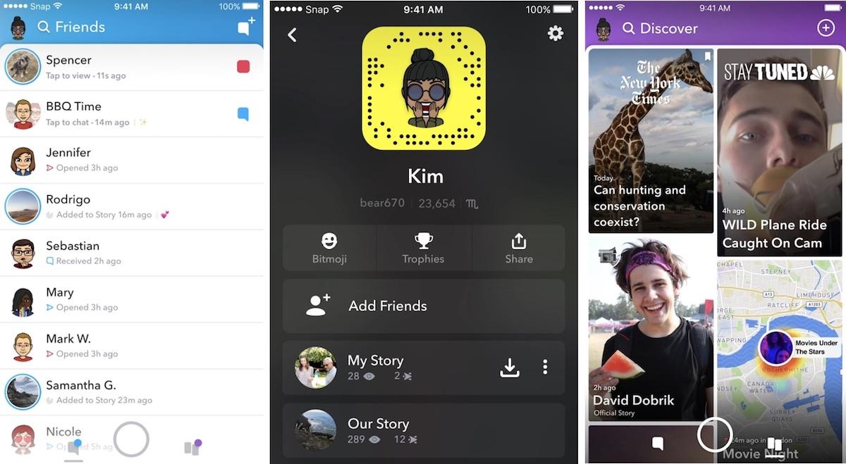 Novo Snapchat