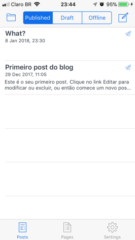 BlogTouch Blogger iOS