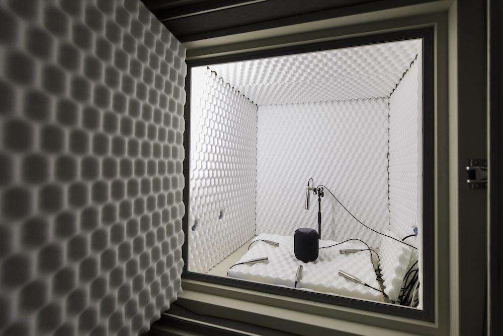 Câmaras acústicas onde o HomePod foi desenvolvido