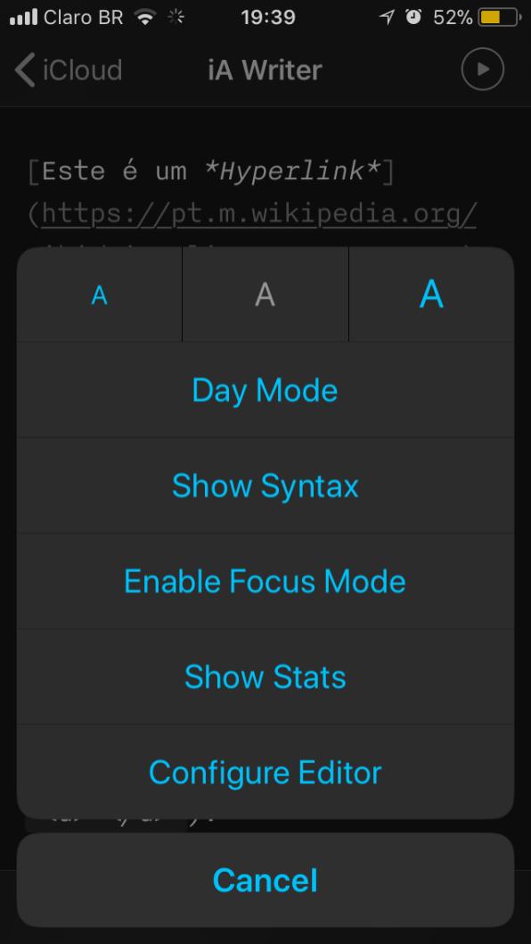 iA Writer iOS
