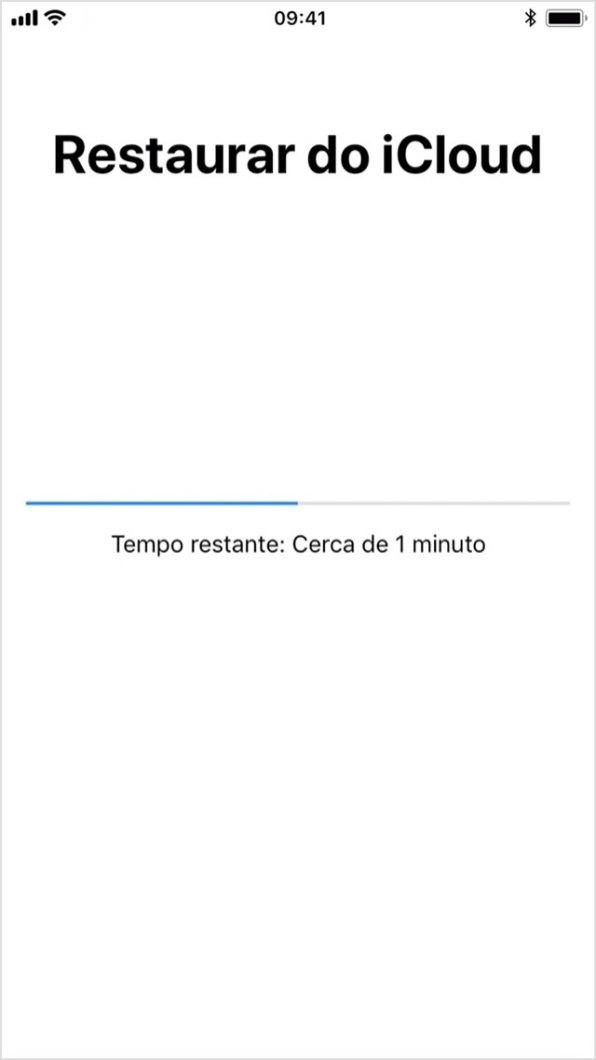 Restaurando iPhone via iCloud