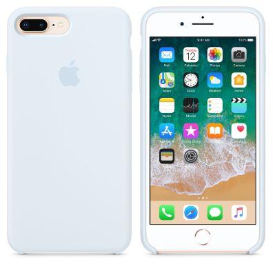Case de silicone para iPhone 8 Plus na cor azul-céu