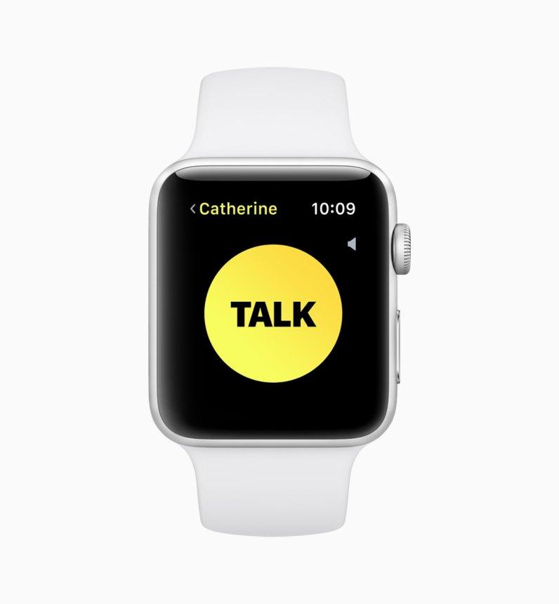 App de Walkie-Talkie no watchOS 5
