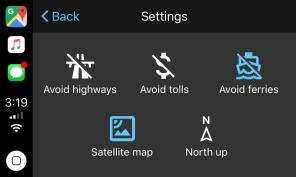 Google Maps no CarPlay