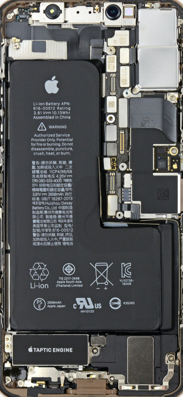 Wallpaper do iPhone XS (iFixit)