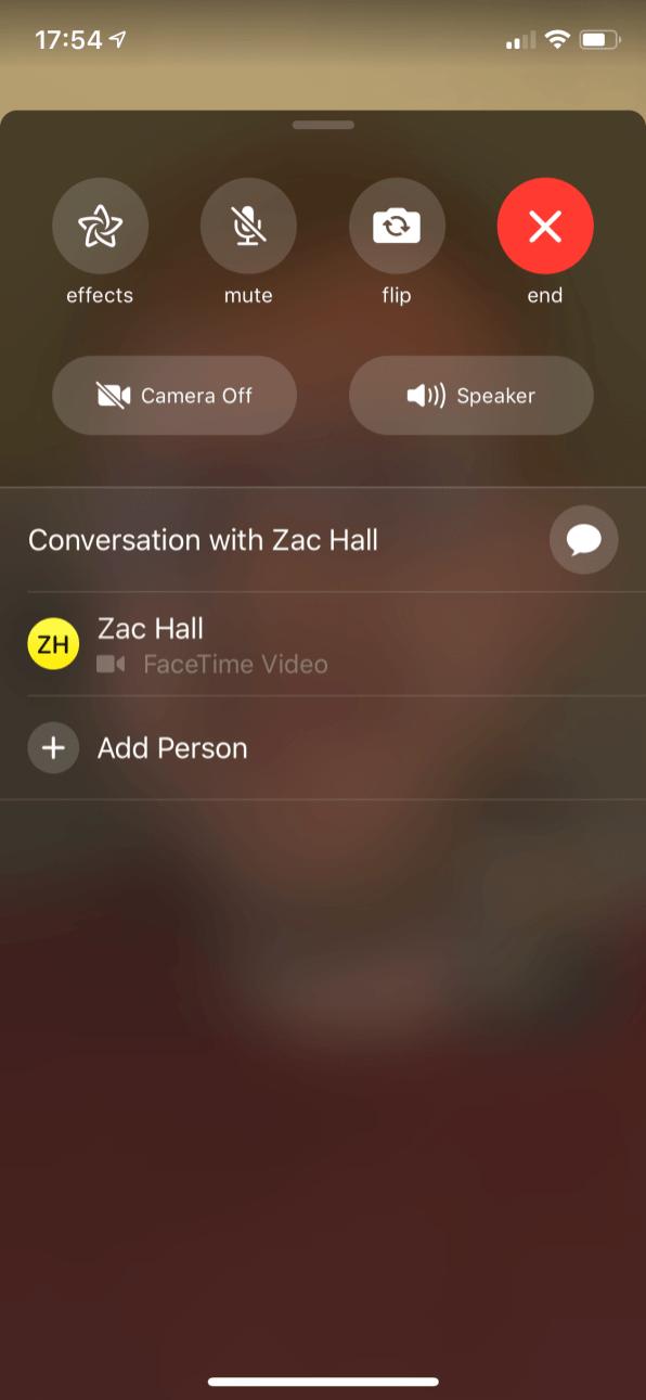 FaceTime no iOS 12.1.1 beta