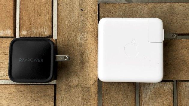 Carregador da RAVPower vs. Apple