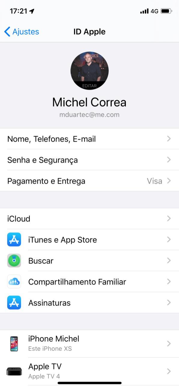 Novidades do iOS 13 - Tela de assinaturas