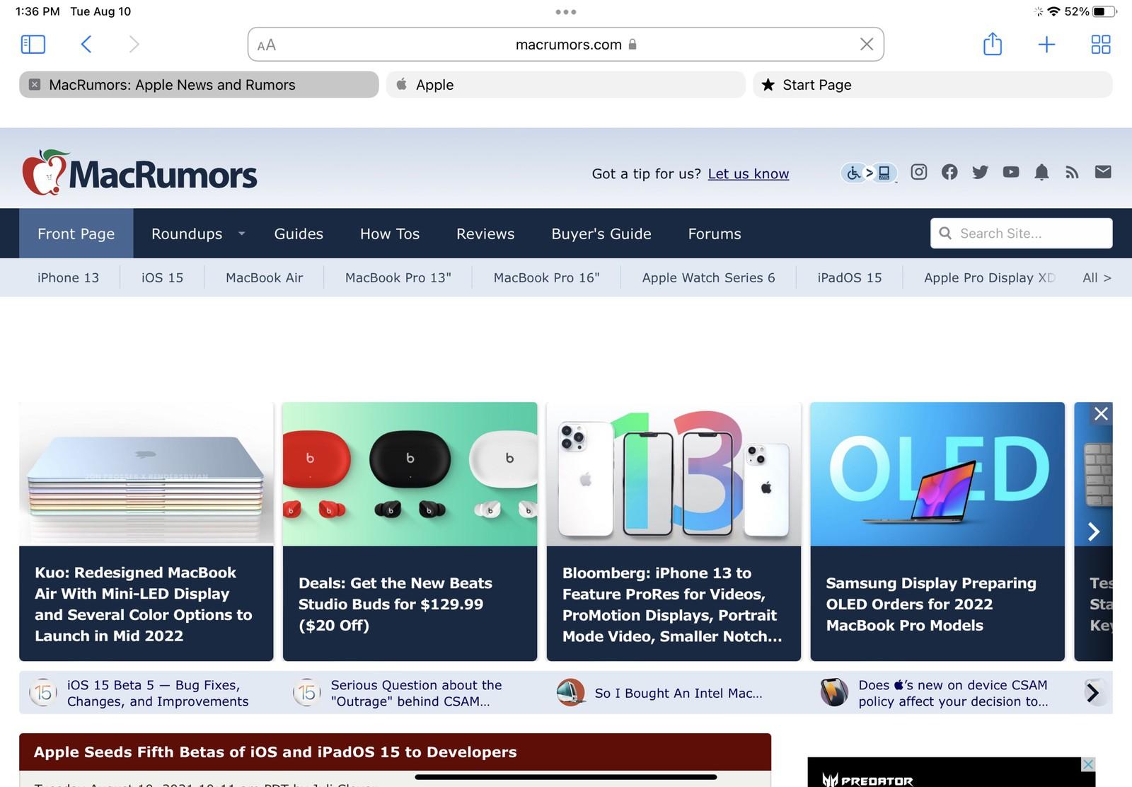 Novidades do iPadOS 15