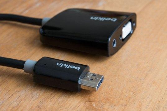 Adaptador de HDMI para VGA, da Belkin