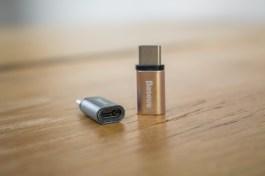 Adaptador de Micro-USB para USB-C, da Baseus