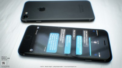 Mockup de iPhone 7 preto espacial