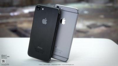 Mockup de iPhone 7 preto espacial