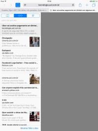 Lista de Leitura no iPad