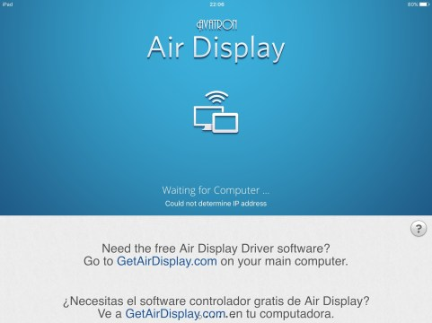 Configuração do Air Display 3