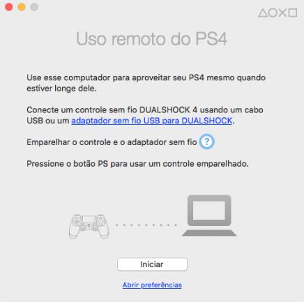 Configuração inicial do Remote Play do PS$