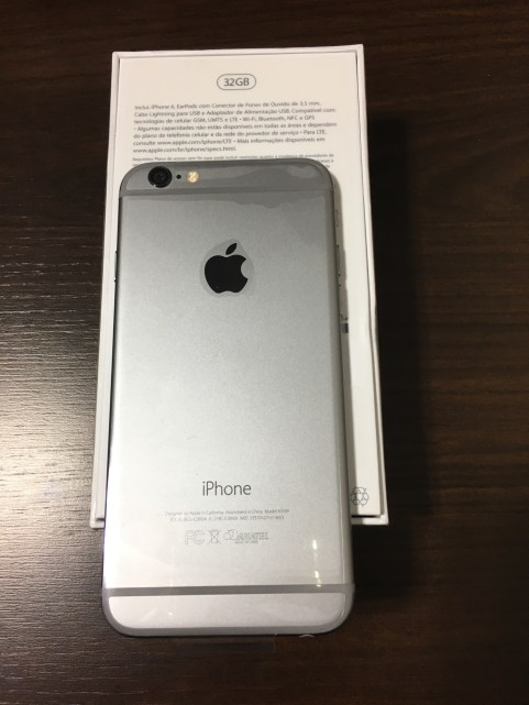 iPhone 6 de 32GB com selo da Anatel