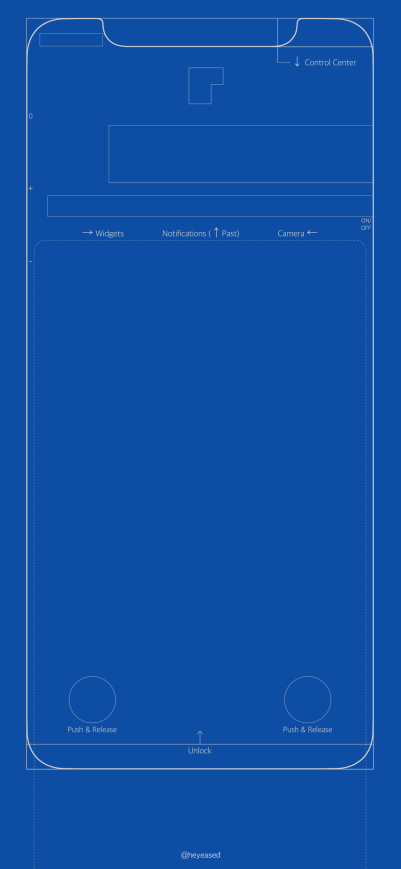 Wallpaper de blueprint para o iPhone X