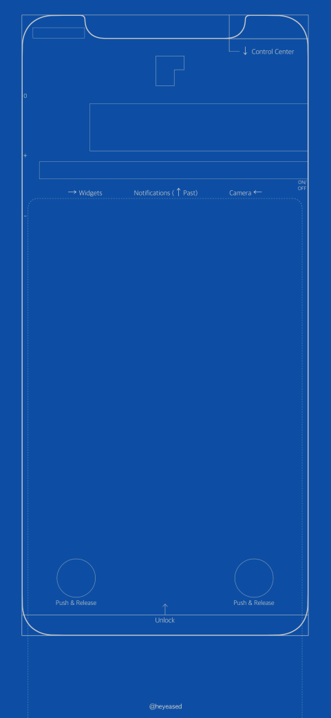 Wallpaper de blueprint para o iPhone X