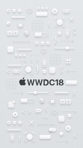 Imagem de fundo - WWDC 2018 - iPhones Plus