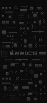 Imagem de fundo - WWDC 2018 - iPhone X